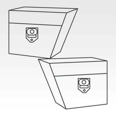 Two under tray toolboxes - left and right