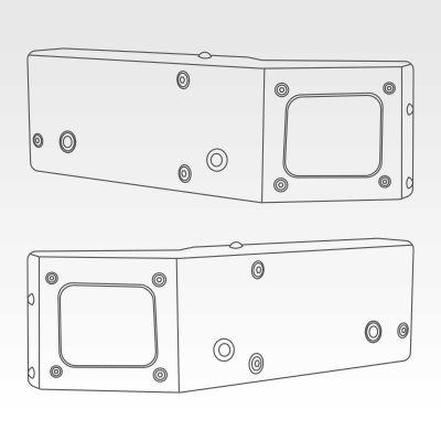 Blind spot sensor bracket