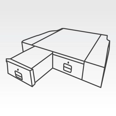 Ute Tub Drawer System to suit Ford Ranger PX Series Dual Cab