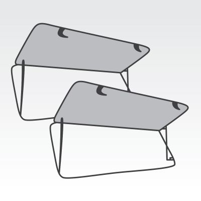2 Lift Up Windows to suit Tray Top Canopy Dual Cab